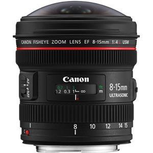 Canon EF 8-15mm f/4L Fisheye USM Camera Lens